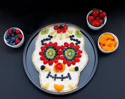 fruit by mail healthy day of the dead sugar skull fruit pizza growing up bilingual