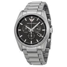 armani stainless steel bracelet images Emporio armani sportivo black dial stainless steel bracelet men 39 s jpg