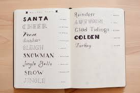 holiday planning guide bullet journal
