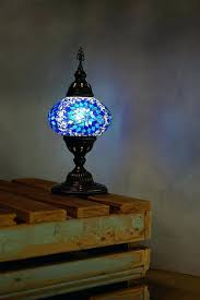 lamps turkish floor lamps blue mosaic desk lamp table by for