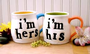 hand crafted i u0027m his i u0027m hers coffee mugs by love art works
