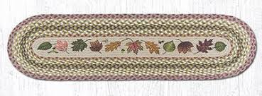 48 inch table runner 48 inch autumn leaves braided jute tablerunner by capitol earth