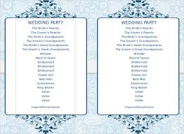 free sle wedding programs blank wedding program templates images exle resume