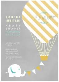 baby shower invitation cards air balloon baby shower