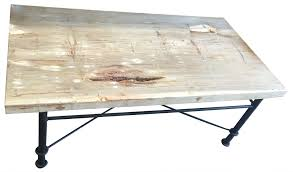 coffee table with iron base petrified wood coffee table with iron base haskell antiques