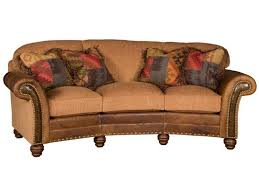Leather Conversation Sofa King Hickory Living Room Katherine Leather Fabric Conversation