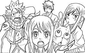 fairy tail coloring pages anime natsu virtren com