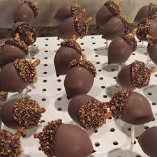 thanksgiving cake pops acorn shaped cake pops