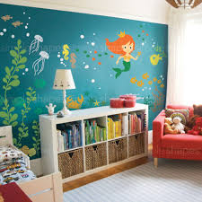 under sea wall decal