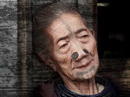 old people with new face tattoos photo 3 real photo pictures
