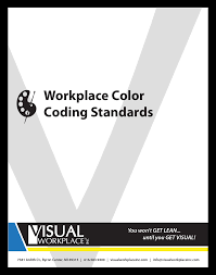 5s u0026 visual workplace color code standards guide visual