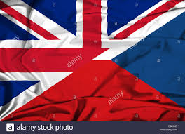 Czech Flag Waving Flag Of Czech Republic And Uk Stock Photo Royalty Free