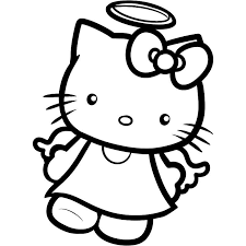 kids kitty coloring pages angel cartoon coloring pages