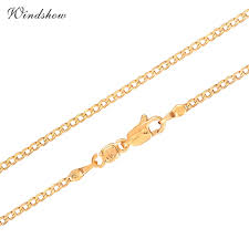 childrens gold necklace 2016 new yellow gold plated slim curb chain choker necklace