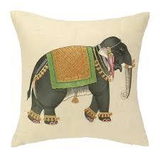 decor embriodered mumbai elephant pillow for living room