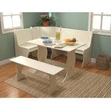 breakfast nook 3 corner dining set antique white walmart