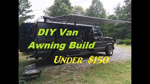 Rv Awning Extensions Diy Retractable Camper Van Awning Build For Under 150 Youtube