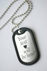 Mens Engraved Necklaces Anniversary Dog Tag Personalized Mens Pendant Necklace Mens