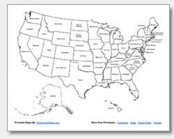 map of us states names printable united states maps outline and capitals