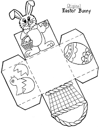 easter bunny baskets easter basket craft template crafts and worksheets for preschool
