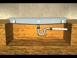 Installing Basement Shower Drain by Trench Drain Installation Youtube