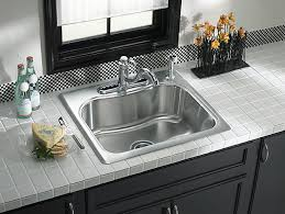 25 Inch Kitchen Sink Staccato 25 Inch Top Mount Sink With Single Faucet K 3362 1