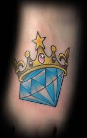 wonderful colorful diamond tattoo design tattooshunter com