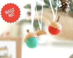 needle felting kit beginner felted acorn ornament kit wool