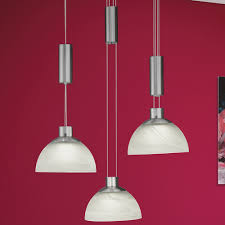 Esszimmerlampe H Enverstellbar Mia Zug Hänge Leuchte ø420mm Led Weiß Glas Pendel Lampe