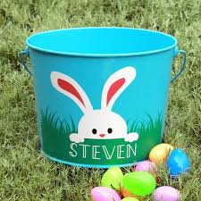 monogrammed easter buckets personalized easter basket