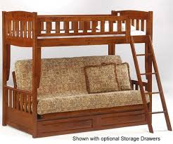 Twin Over Futon Bunk Bed Night And Day Spice Cinnamon Twin Over Futon Bunk Bed In Cherry