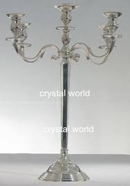 hotsale 5 arm mental silver candelabra with flower bowl