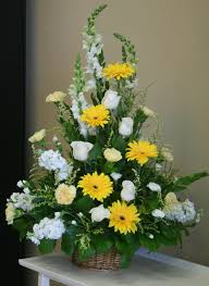 riverside florist yellow and white funeral flowers by you local riverside florist