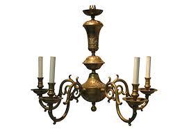 Brass Chandelier Vintage Brass Chandelier Omero Home