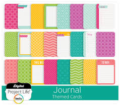 project digital scrapbooking themed journal cards