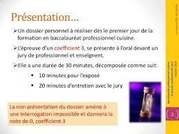 coefficient bac pro cuisine épreuve e22 sous épreuve le dossier professionnel pdf