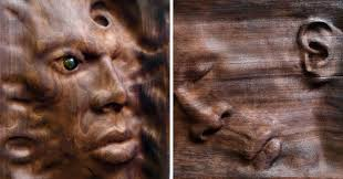 artist creates unique wood sculptures using an ancient woodworking