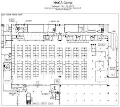 Baltimore Convention Center Floor Plan Naca National Convention Performing And Exhibiting