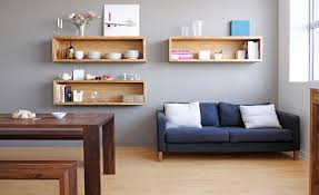 Wall Mounted Bookshelves Diy by Diy Wall Shelves For Living Room Decorative Wall Mounted Shelves