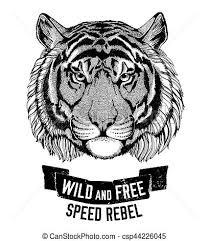 tiger cat be and free t shirt emblem drawing
