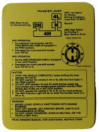 yellow poly 4wd instruction card suzuki samurai u2013 minuteman signs