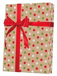 kraft christmas wrapping paper dotty christmas kraft gift wrap innisbrook wrapping paper