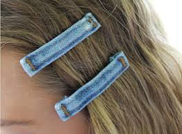 decorative bobby pins recycle belt loops from into decorative hair accessories