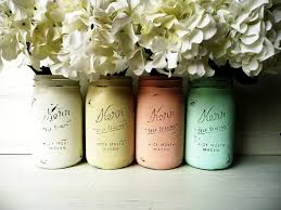 mass floral arrangement in painted antique jars fav pinterest