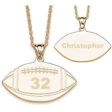 personalized photo pendant necklace personalized 14kt gold plated football necklace walmart