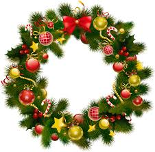 christmas garland clip art u2013 happy holidays