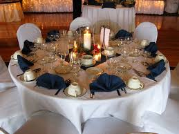 Navy Blue Table L White And Navy Blue Wedding Reception Ideas Best Wedding