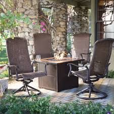 Patio Furniture Sets With Fire Pit by Belham Living Charter All Weather Wicker Swivel Rocker 32 In Fire