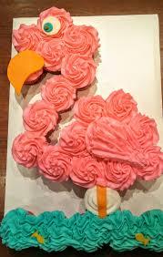 Pull Apart Halloween Cupcake Cakes Flamingo Pull Apart Cake Flamingo Cupcake Cake Beach Cupcakes