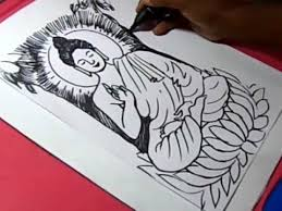 how to lord budha meditation drawing for kids youtube